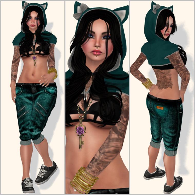 #369- kitten green